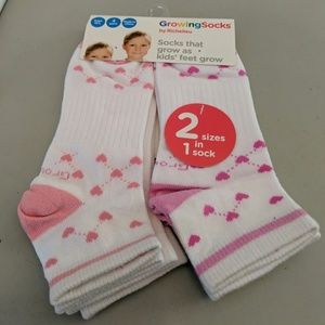 NEW Children's Growing Socks M/L 4 Pair NO POLY